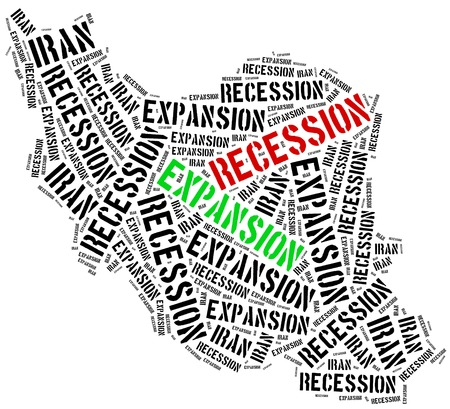 emerging market: Expansion and recession in Iran. Business cycle concept. Stock Photo