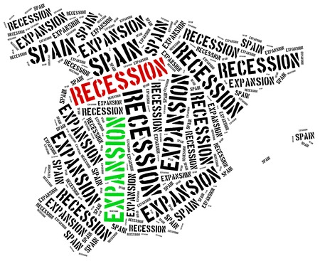 emerging economy: Expansion and recession in Spain. Business cycle concept.