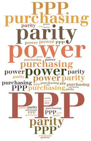 parity: PPP. Purchasing power parity. Business abbreviation. Stock Photo
