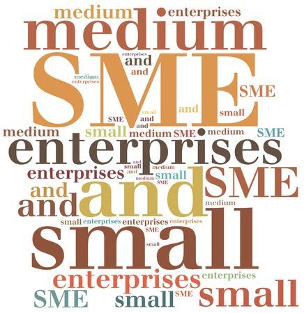 SME. Small medium enterprises. Business abbreviation. Stock Photo