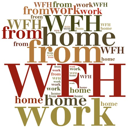 work from home: WFH. Work from home. Business abbreviation.