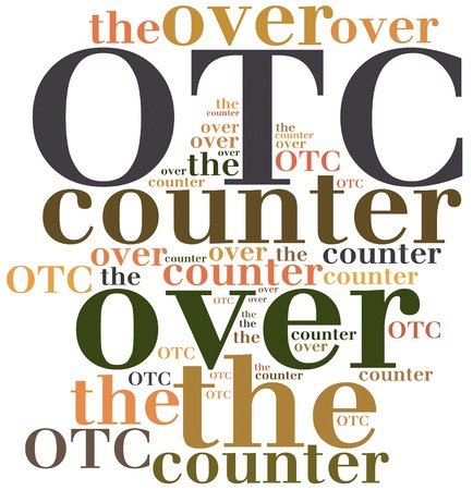 over the counter: OTC. Over the counter. Business abbreviation.