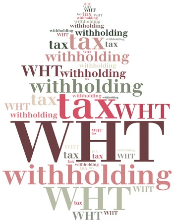 withholding: WHT. Withholding tax. Business abbreviation.