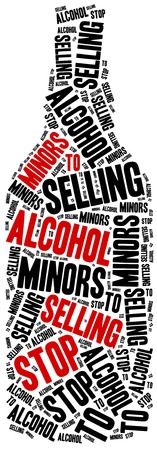 18 20 years: Stop selling alcohol to juvenile. Word cloud illustration