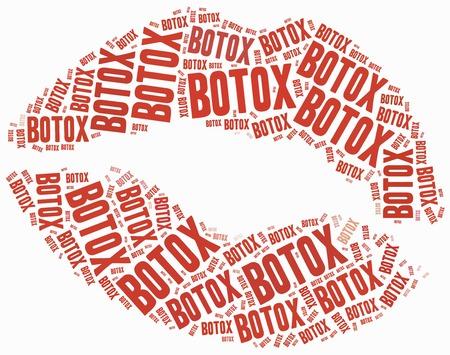Botox or plastic surgery concept.