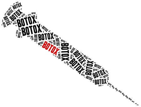 Botox czy chirurgia plastyczna koncepcja.