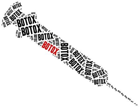 botox: Botox or plastic surgery concept.