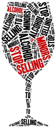 juvenile: Stop selling alcohol to juvenile. Word cloud illustration