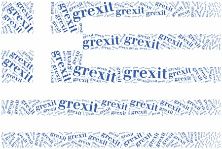 financial crisis: Financial crisis in Greece. Word cloud illustration.