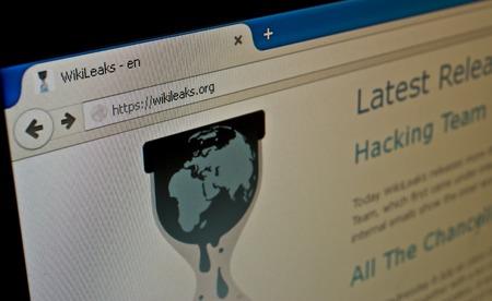 Katowice, Poland - July 11, 2015: wikileaks.org. Official Wikileaks website. Editorial