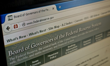 computer services: Katowice, Poland - July 11, 2015: federalreserve.gov. Official FED website.