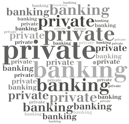 private service: Private banking. Financial service concept. Stock Photo