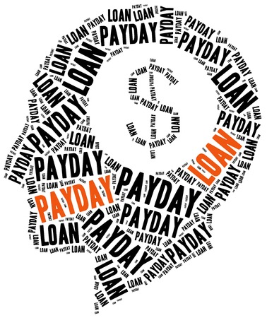 borrowing money: Payday loan or quick credit concept.