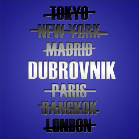 foreign country: Famous travel destination places. Tourism concept.