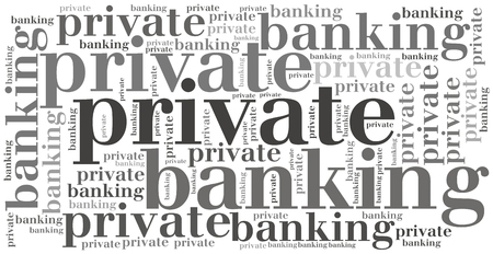 financial service: Private banking. Financial service concept. Stock Photo