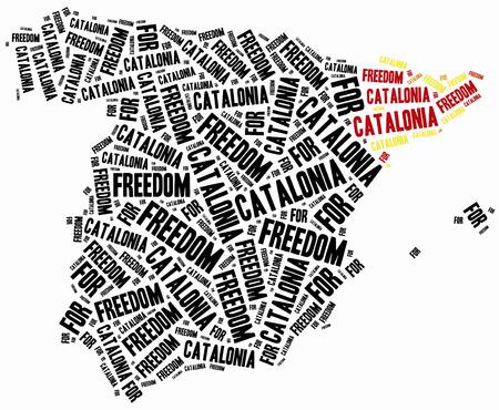 catalonia: Freedom for Catalonia Stock Photo