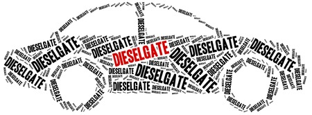 volkswagen: Diesel scandal. Concept related to cheating in pollution emission tests.