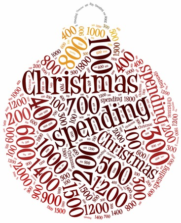 outgoings: Christmas spending. Concept related to money expenditures during christmas.