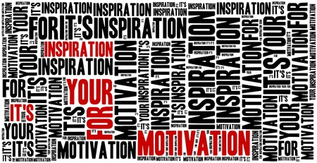 frase: Es la inspiración para su motivación. Frase motivación. Concepto frase inspirada.