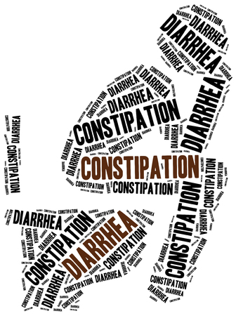 Defecation problems - diarrhea and constipation. Stockfoto