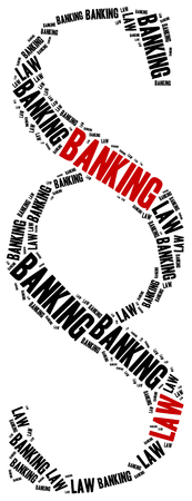 ordenanza: Banking law. Concept related to different areas of law. Foto de archivo