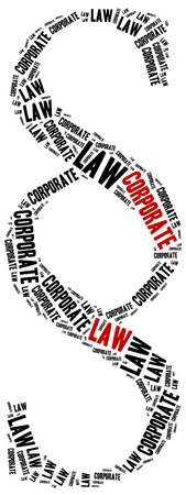 advocate symbol: Corporate law. Concept related to different areas of law.