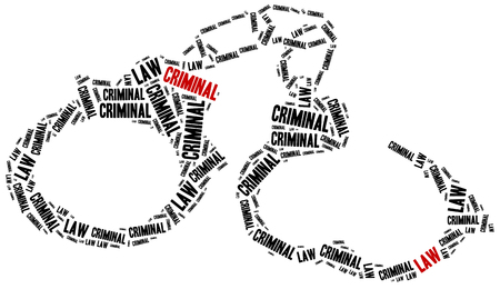 advocate symbol: Criminal law. Concept related to different areas of law.