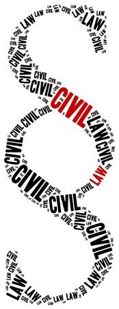 ordenanza: Ley civil. Concepto relacionados con distintas �reas del derecho. Foto de archivo