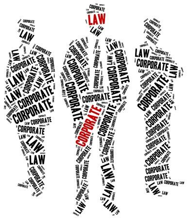 ordenanza: Derecho Corporativo. Concepto relacionados con distintas �reas del derecho. Foto de archivo