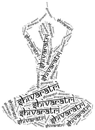 hindu goddess: Shivaratri. Indian holiday of hindu goddess. Stock Photo