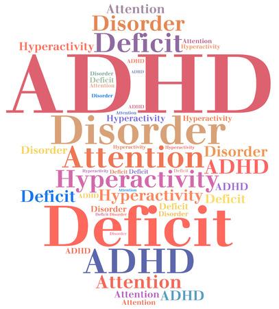 desorden: TDAH - Trastorno por déficit de atención con hiperactividad. abreviatura enfermedad.