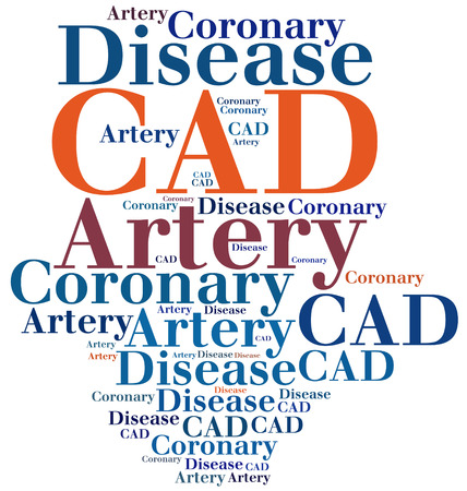 abbreviation: CAD - Coronary Artery Disease. Disease abbreviation. Stock Photo