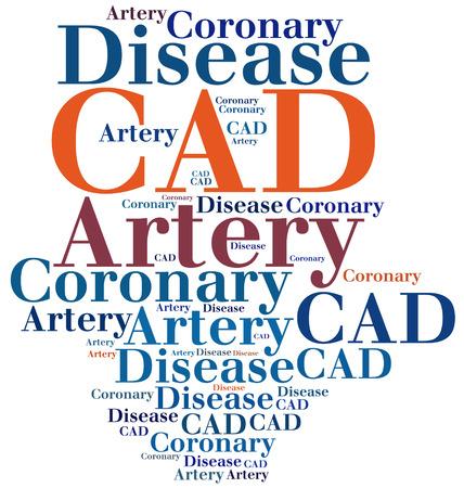 artery: CAD - Coronary Artery Disease. Disease abbreviation. Stock Photo