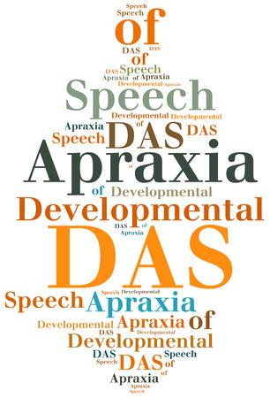 developmental disorder: DAS - Developmental Apraxia of Speech. Disease abbreviation.