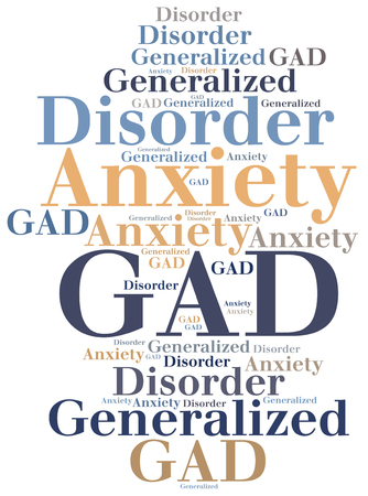 generalized: GAD - Generalized Anxiety Disorder. Disease abbreviation.