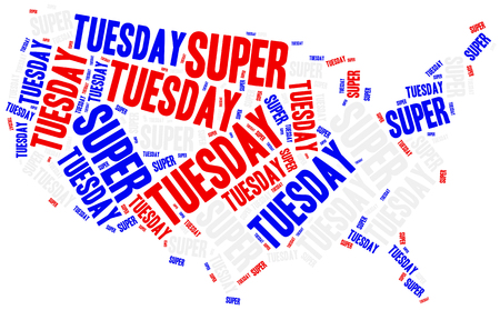 tuesday: Super tuesday. Concept related to american president election.