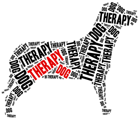 Therapy dog or animal assisted therapy concept. Stock Photo