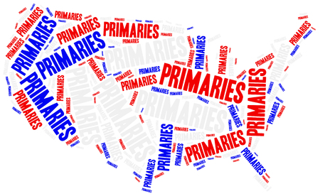 primaries: US primaries. Concept related to american president election.