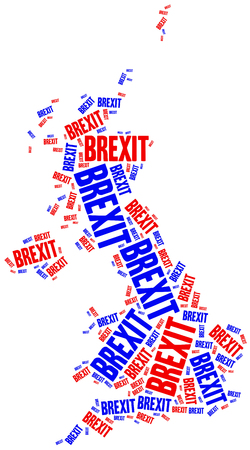 withdrawal: Brexit or Great Britain UE withdrawal concept.