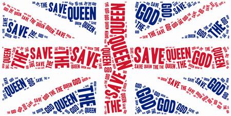 kingdom of god: Queen Elizabeth II birthday or coronation anniversary concept.