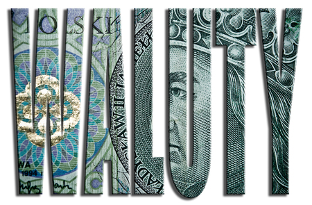 currencies: Waluty - currencies. 100 PLN or Polish Zloty texture.