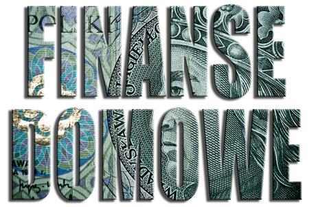 finanse: Finanse domowe, Household Finance. 100 PLN or Polish Zloty texture.