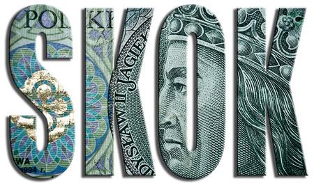 cooperativismo: SKOK - Spó?dzielcza Kasa Oszczednosciowo Kredytowa - Fondo Cooperativa de Ahorro y Crédito. 100 Zloty polaco textura.