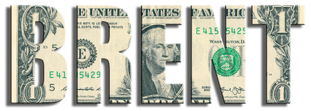 brent crude: Brent Crude Oil. US Dollar texture. Stock Photo
