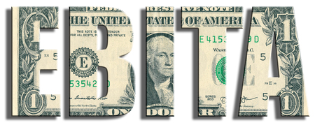 before: EBITA - Earnings Before Interest Taxes and Amortization. US Dollar texture.