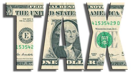 TAX. US Dollar texture.