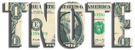 TNOTE - アメリカ 10 年政府債。米ドルのテクスチャです。