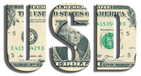 usd: USD - American Dollar symbol. US Dollar texture.