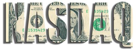 nasdaq: NASDAQ - American stock exchange. US Dollar texture. Stock Photo