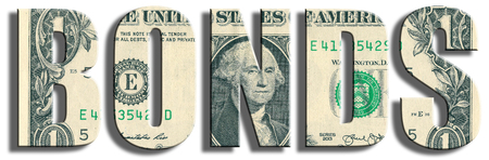 Le obbligazioni o obblighi. US Dollar texture. illustrazione 3D.